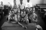 Orphaned refugees attend class at the Friedis Rehabilitation Centre near Lira, Uganda