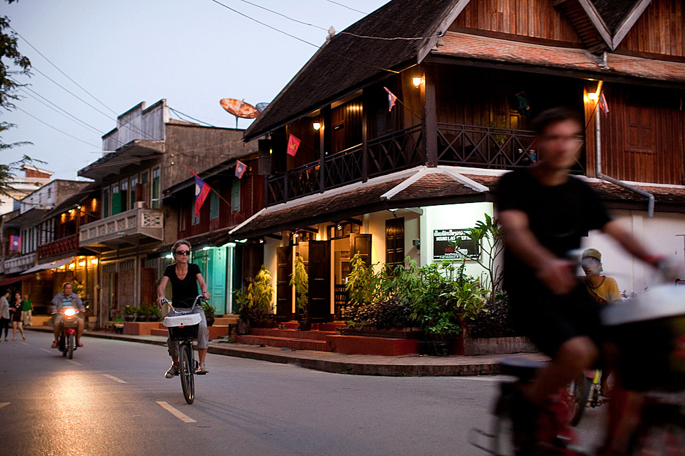 French colonial homes have become boutique hotels, Luang Prabang