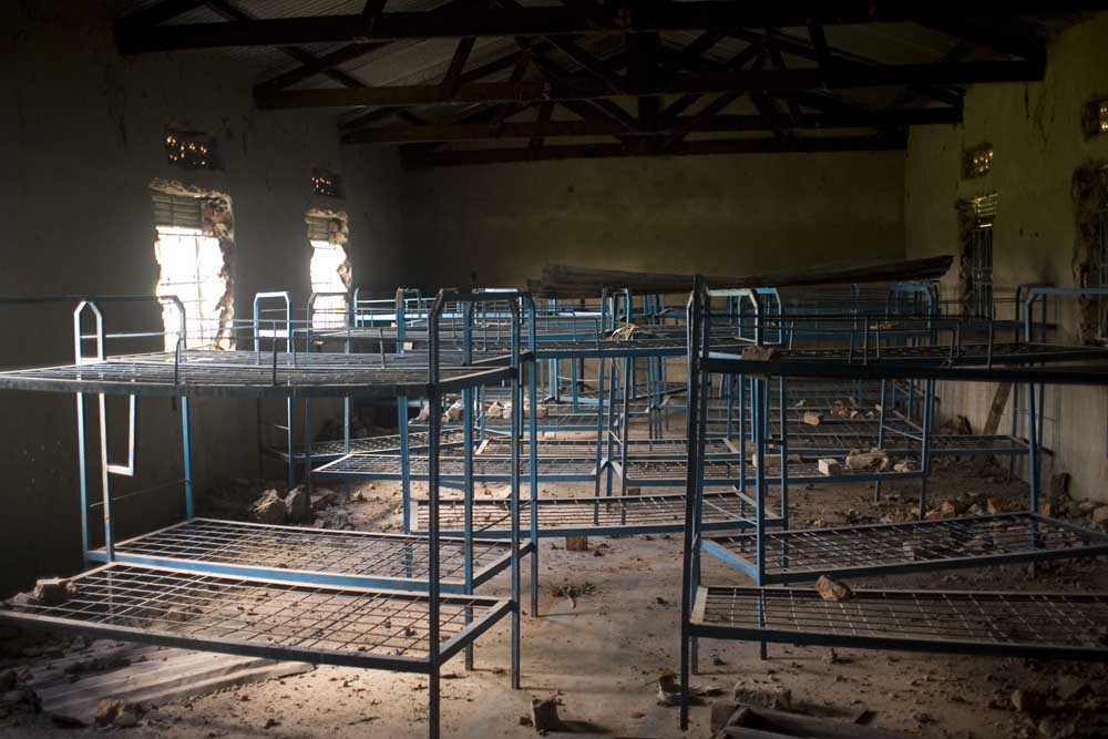 The girls barracks of a catholic school under repair by AFRICOM mission in Pader, Uganda