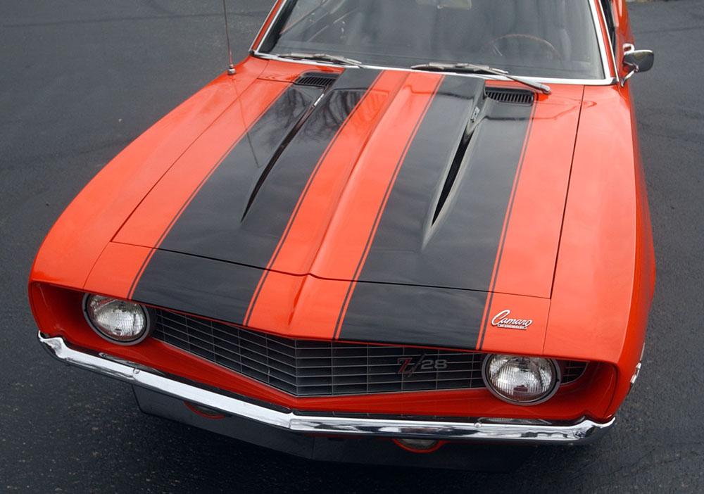 69 Z28 X77 Hugger Orange original paint. 302 cu. in. CE motor, M22W trans.