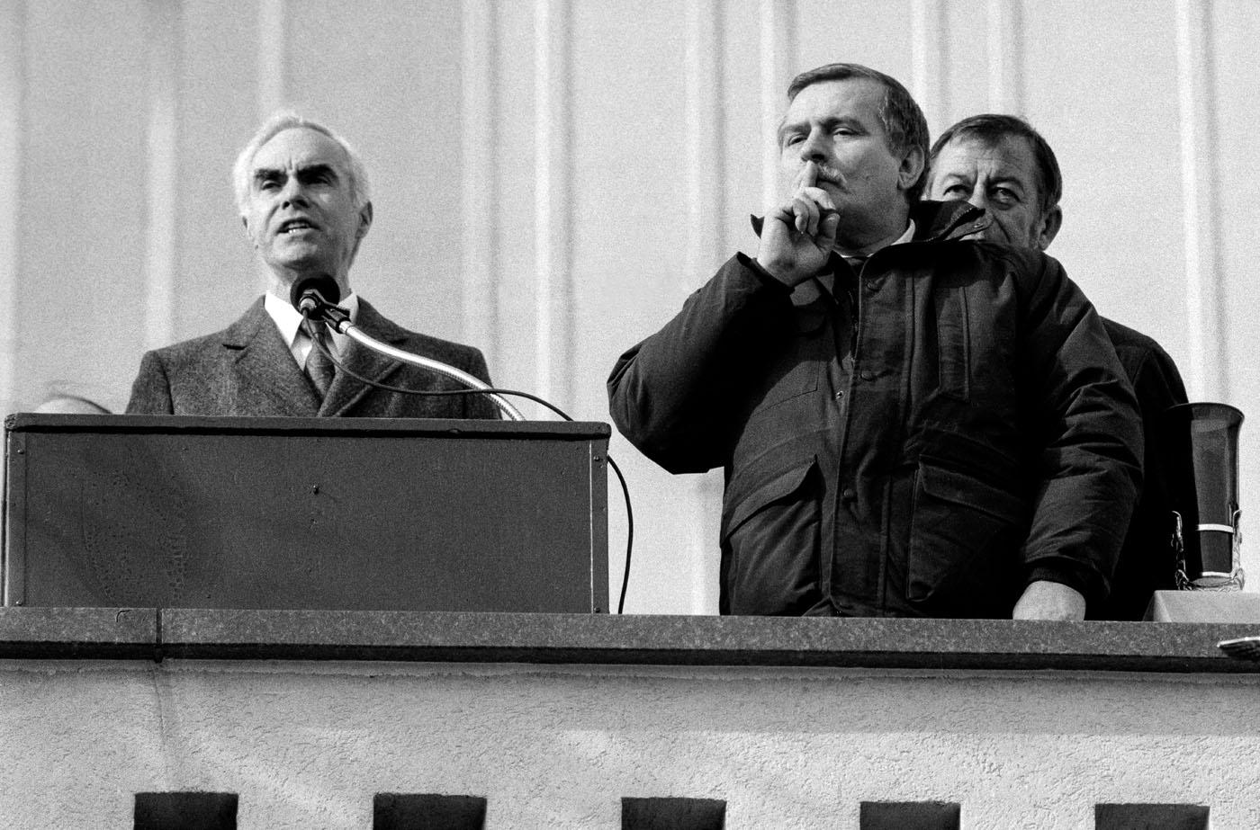 Lech Walesa and Gov. Robert Casey, Czestochowa