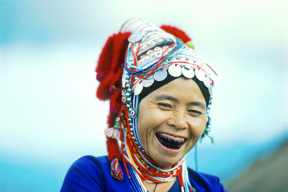 Red Karen VillagerLaughing at JohnNorthern Thailand