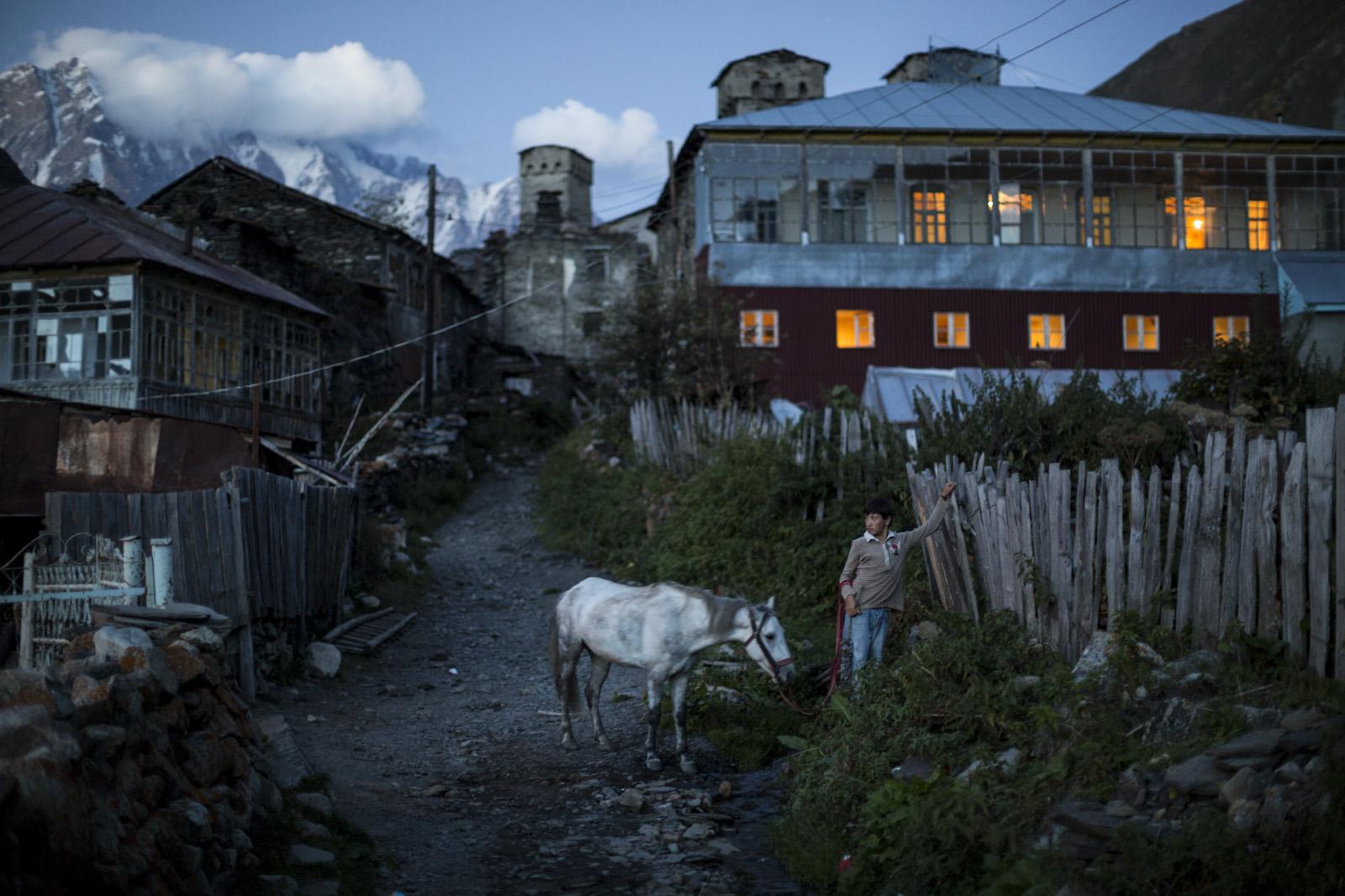 Ushguli village, Svanetia, Georgia.