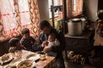 The family of Oleg Samsiani in the village of Yeli, Svanetia, Georgia.