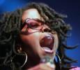 Hip-hop artist Lauren Hills performs at the Essence Music Festival.