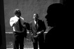 Eduardo Castillo, right, his brother Victor Castillo, center, and Carlos Coychea prepare for a funeral assignment.