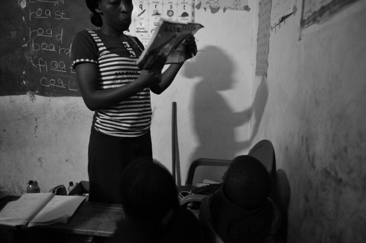 Dionisia Wawira Kitmaka teaches the pre-unit (5-6 year olds) class.
