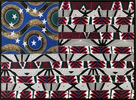 {quote}We the people{quote} was a powerful beginning in 1787 but it did not include black people, brown people, native people or women. African people were here creating this nation long before it was a nation.This flag is an homage to them and along with other work will be put up for auction to benefit Sheenway School in LA and Ghana.