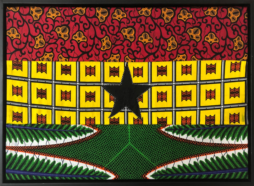 {quote}Bold to defend forever...{quote} This is my black star of hope and honour, part of a series of artworks being auctioned for Sheenway Schools in Watts and Sasekofe.