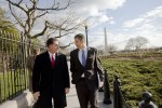 Secretary of Education Arne Duncan, right, walks with Dell Comupters founder Michael Dell.Washington, D.C.