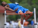 Westminster Academy's Anthony Sheffield clears the bar during the high jump portion of the FHSAA Track & Field Finals in Winter Park, Florida.