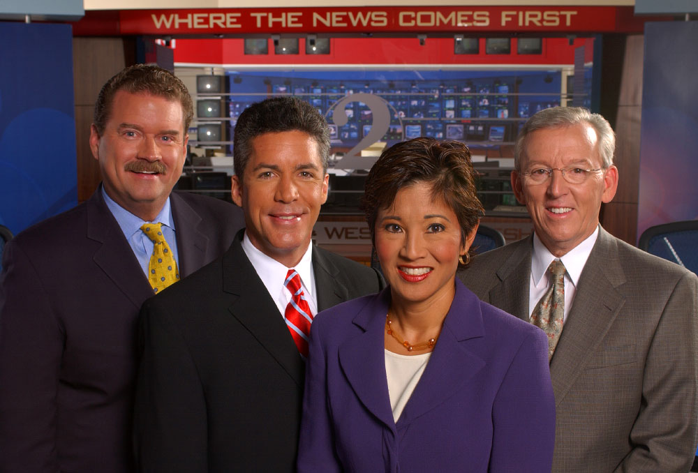 WESH-TV anchors photographed for billboard and advertising campaign.