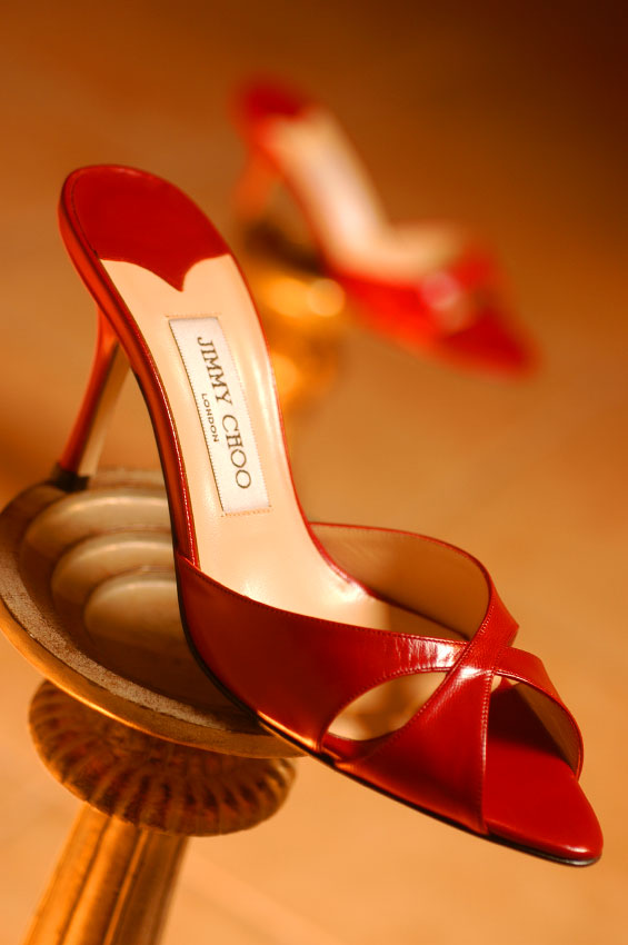Jimmy Choo shoes photographed for Red Hot Summer Shoes.
