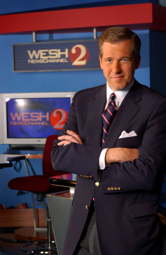 NBC Nightly News anchor Brian Williams photographed in Orlando, Florida.
