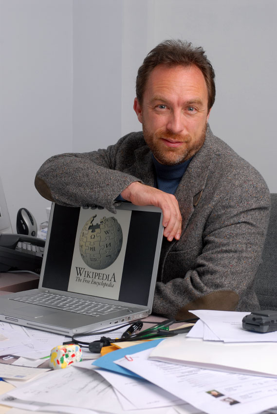 Wikipedia founder Jimmy Wales, photographed at his office in St. Petersburg, Florida.