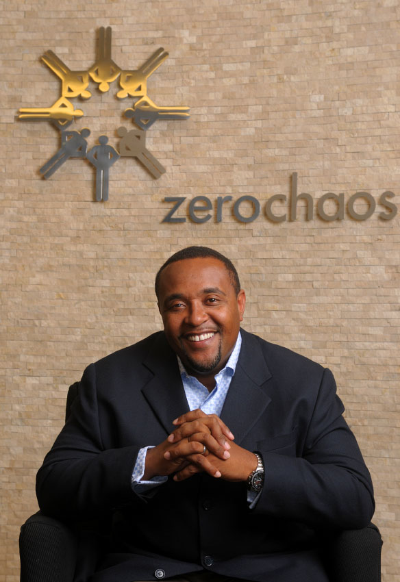 ZeroChaos CEO Harold Mills, photographed at his corporate headquarters in Orlando, Florida.