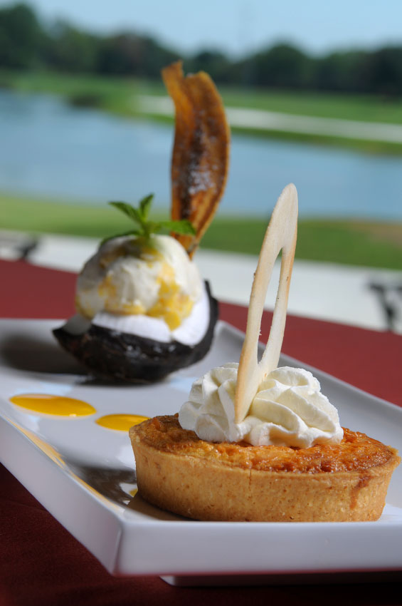 A selection of gourmet desserts from the Nine 18 restaurant at the Hyatt Grand Cypress Resort in Orlando, Florida.