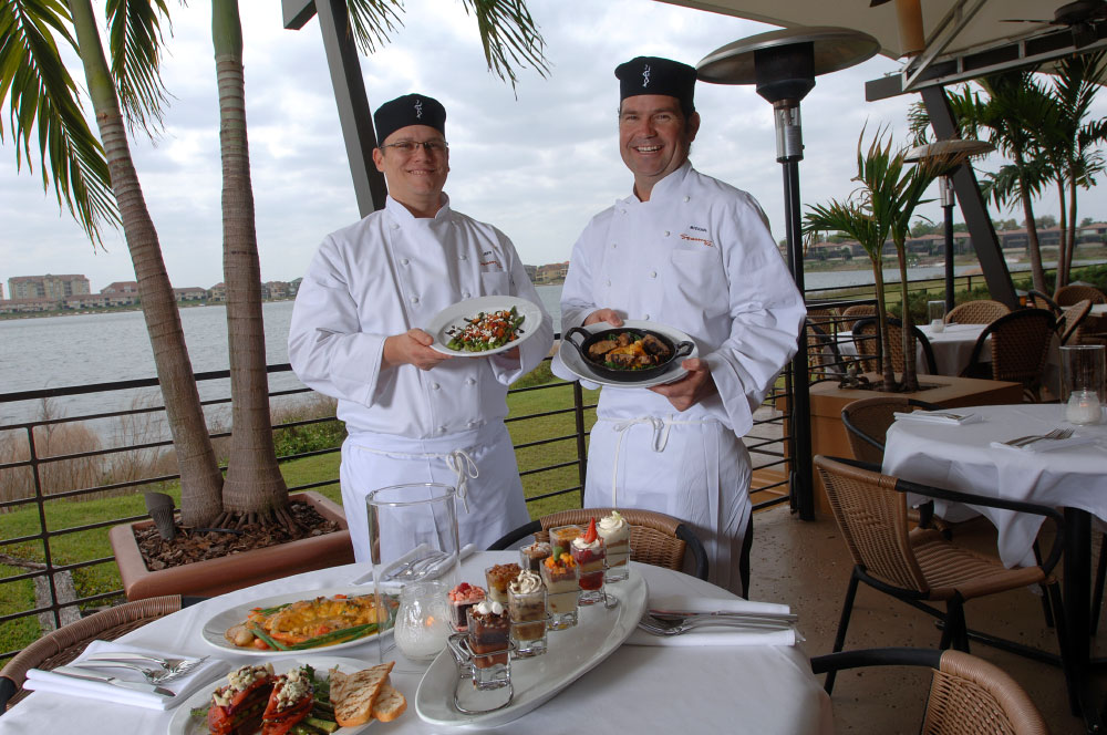 Season's 52 executive chefs Jeff Lavine, left, and Michael Russo at their restaurant in Orlando, Florida.