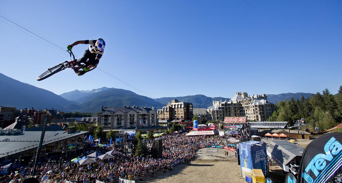 crankworx 2013 in Teva big air. photo by Tommy Whitcomb www.whitcombphoto.com