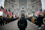 The Honor Guard prepares to enter the Cathedral Basilica  of the Sacred Heart in Newark, NJ Thursday morning for The Arch Bishop's Blue Mass for Law Enforcement  His Excellency The Most Reverend John Joseph Myers, Arch Bishop of Newark presided over the Mass.