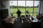Mike Tannenbaum, General Manager of the NY Jets photographed in his office at the Atlantic Health Training Center, where the NY Jets are based.  Photographed for Metro Golf Association