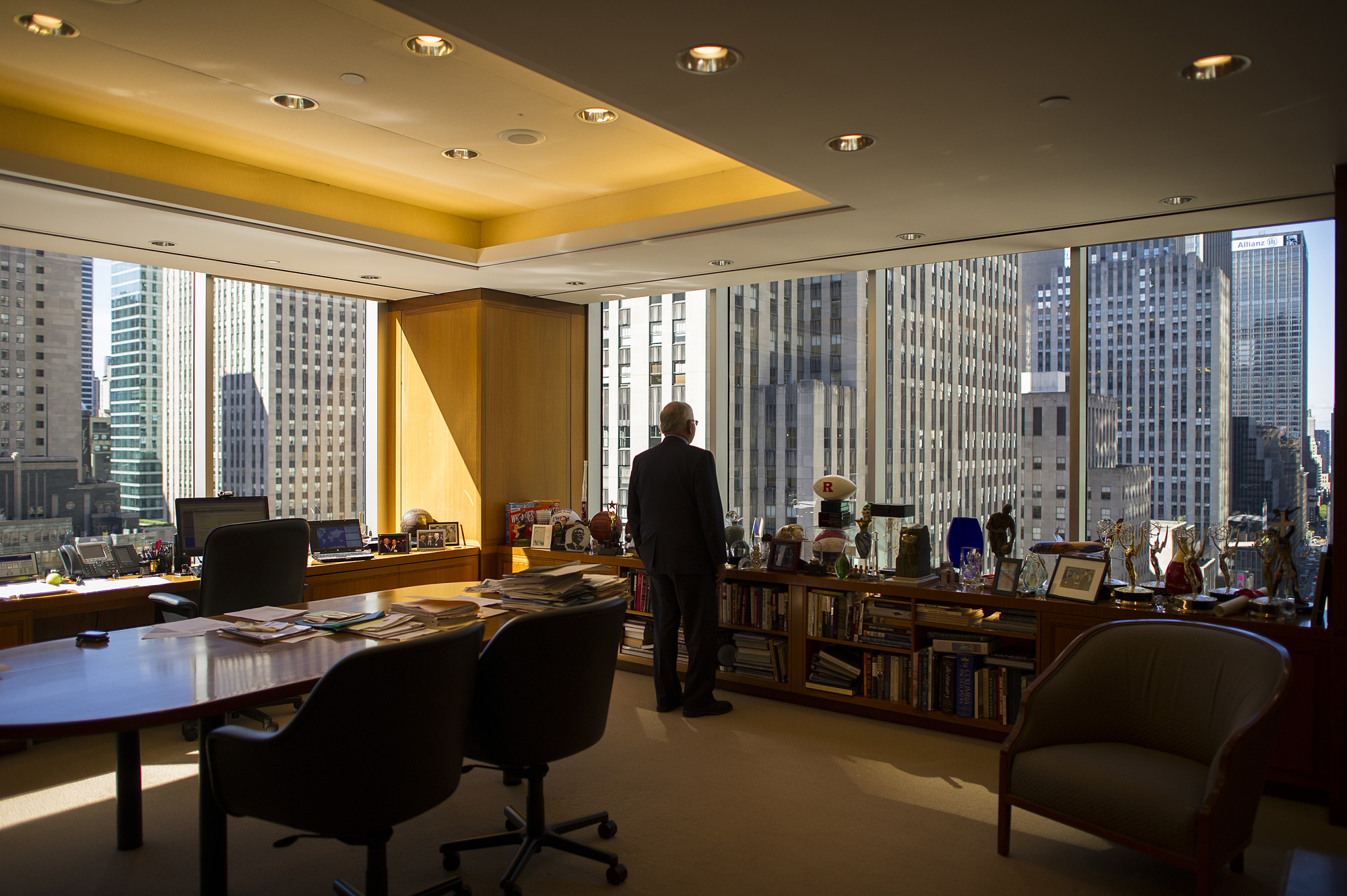 David Stern in his office in midtown Manhattan.  Photographed for American Express