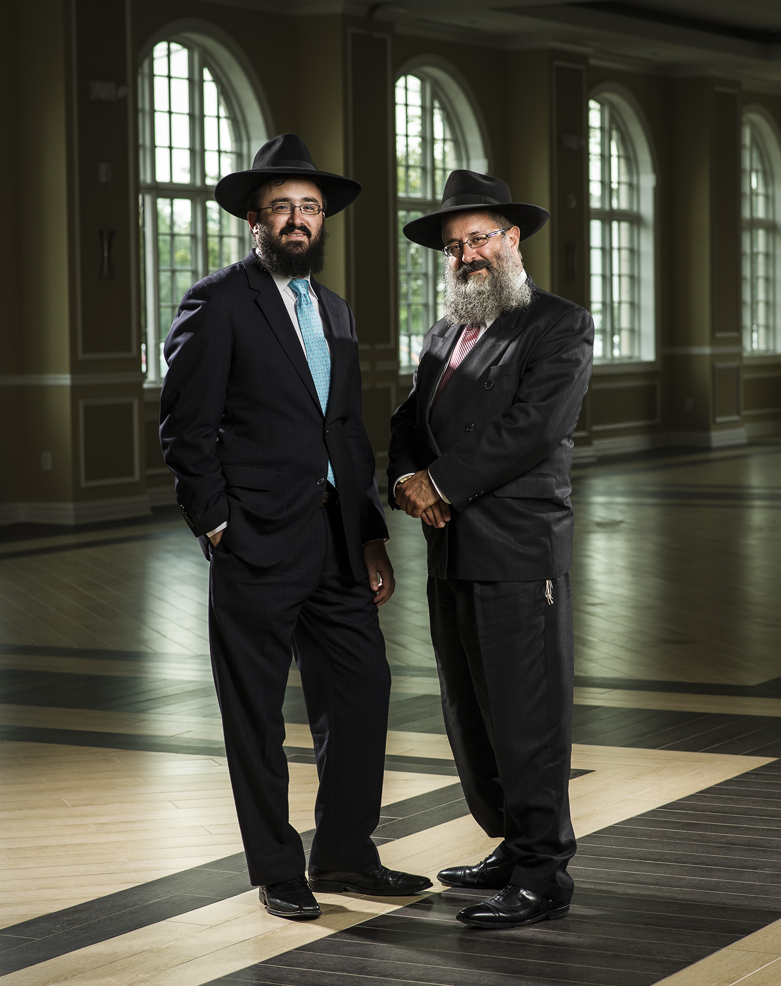 Mendy & Yosef Carlebach operate Chabad House, the largest on campus Jewish Center in the world.  Photographed for Saint Peter's University Hospital