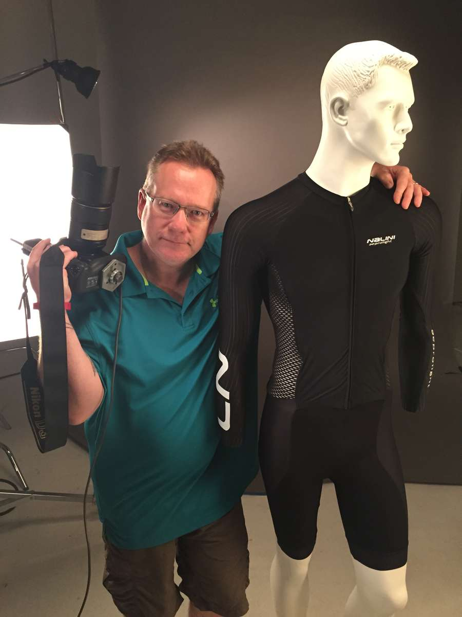 Technical gear photo shoot for Bicycling Magazine