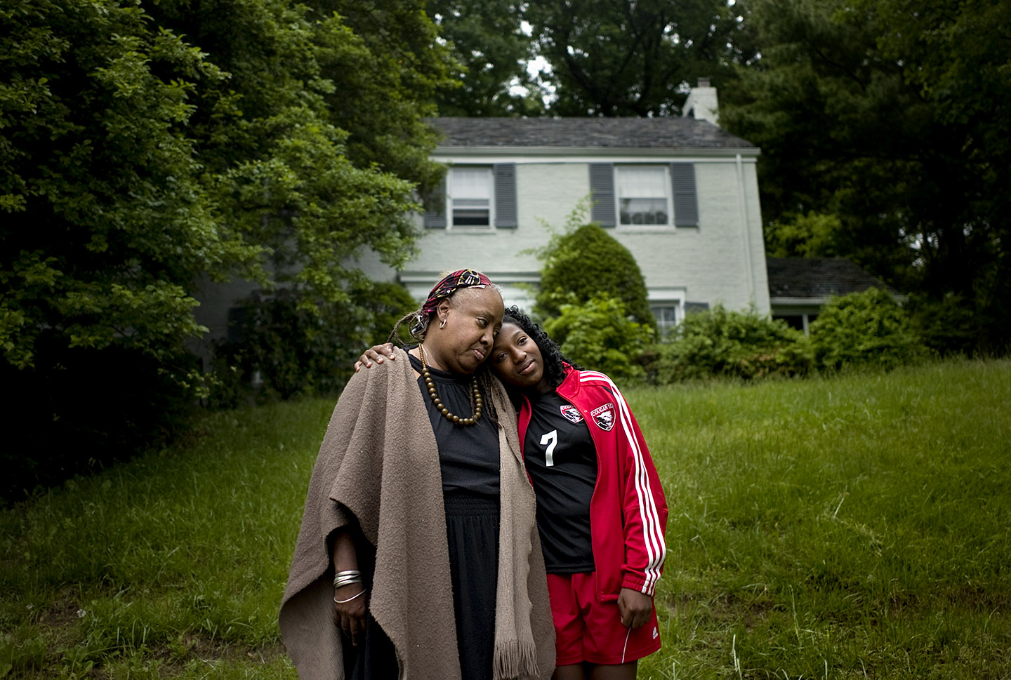 Linda and her daughter Samira are uninsured NJ residents.  Photographed for Catholic Health East
