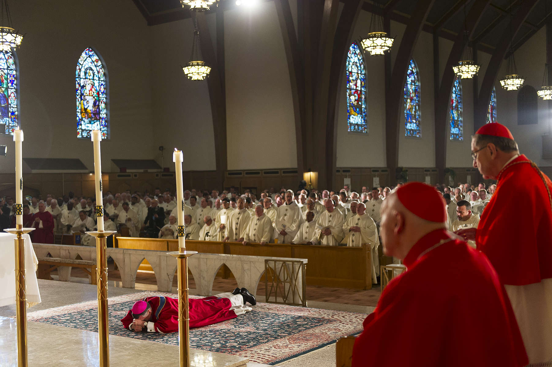 The Most Reverend James F. Checchio is installed as the 5th Bishop of the Diocese of Metuchen at The Church of the Sacred Heart in South Plainfield, NJ.    Photographed for Saint Peter's University Hospital