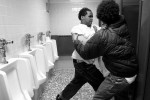Rough-housing turns to raw violence in the bathroom of the school as Jamar Eanes and Nazir Pender, who are both classified as emotionally disturbed, get into a full blown fight.  Many of the students have a hard time drawing the line between kidding around and violence.
