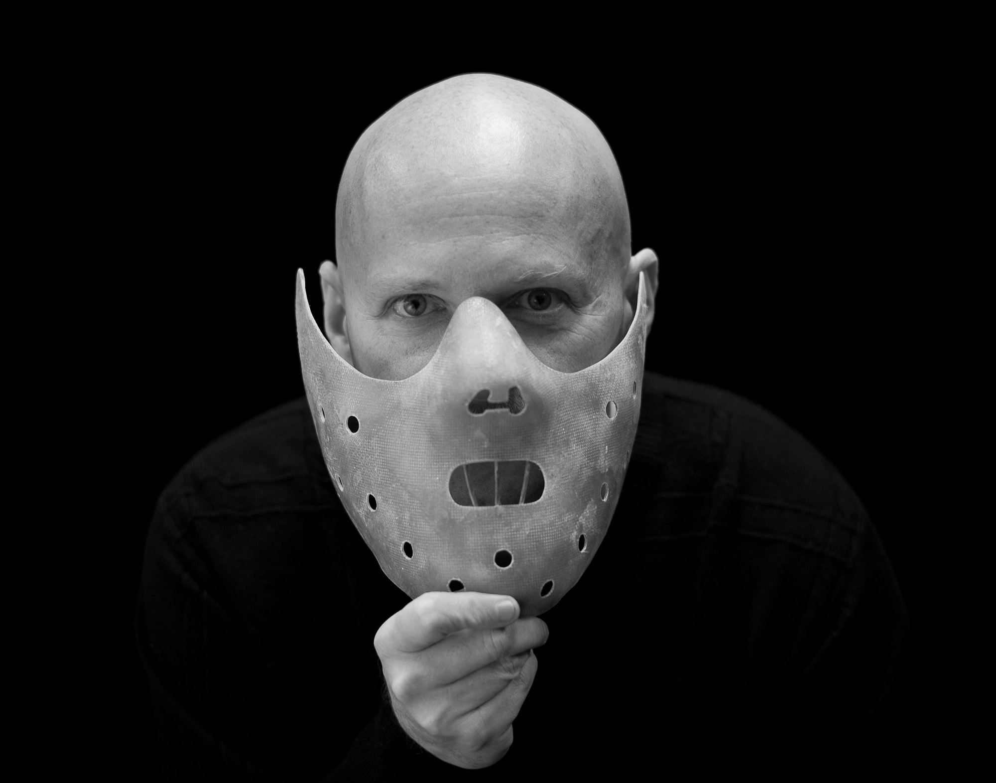 Ed Cubberly is a part-rime artist known for creating the Hannibal Lecter mask in {quote}The Silence of the Lambs{quote} and the goalie mask worn by NY Ranger Mike Richter, among others. Photographed for The Star-Ledger