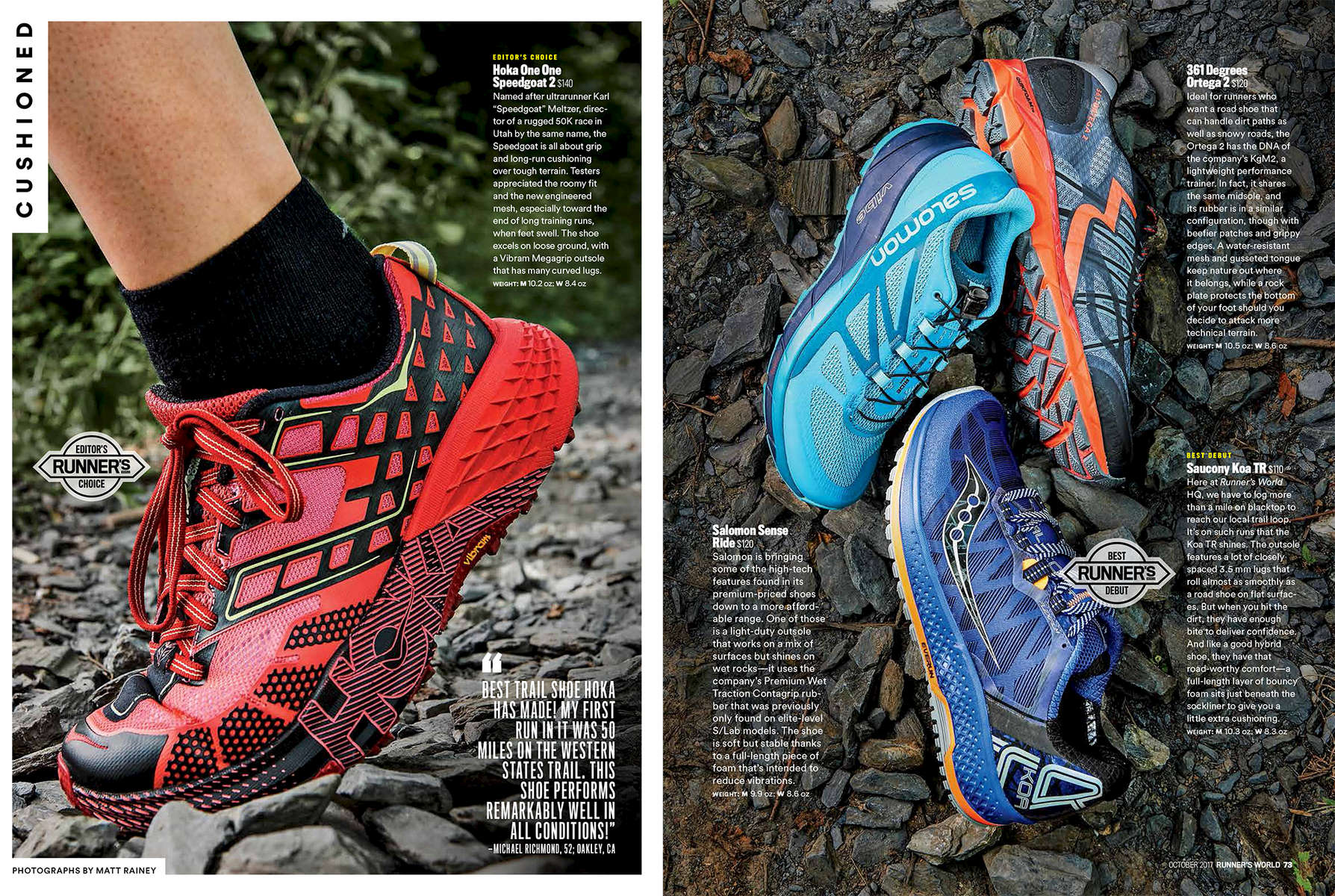 Photographed for Runner's World Magazine