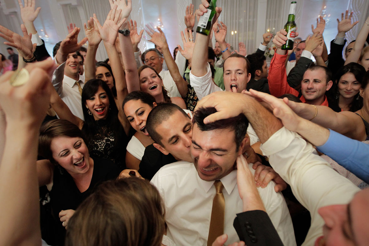 A groom dances during his wedding at the Berkeley Hotel in Asbury Park, New Jersey.