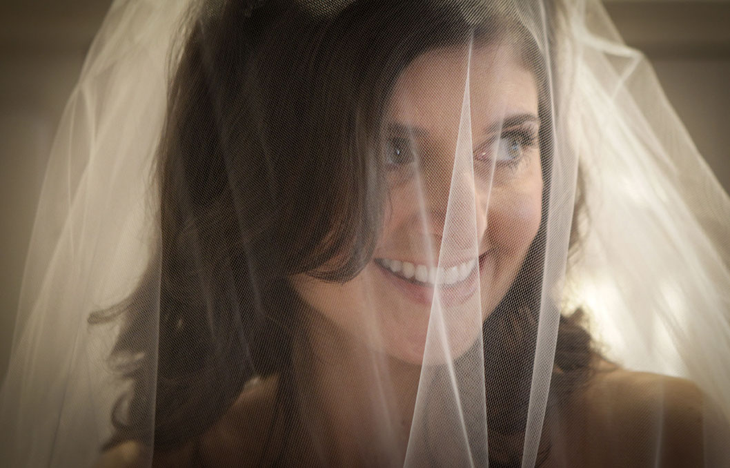 A bride prepares for her wedding in Hoboken, New Jersey. More photos from this wedding are available on the <u>New Jersey wedding photojournalism blog</u></a>