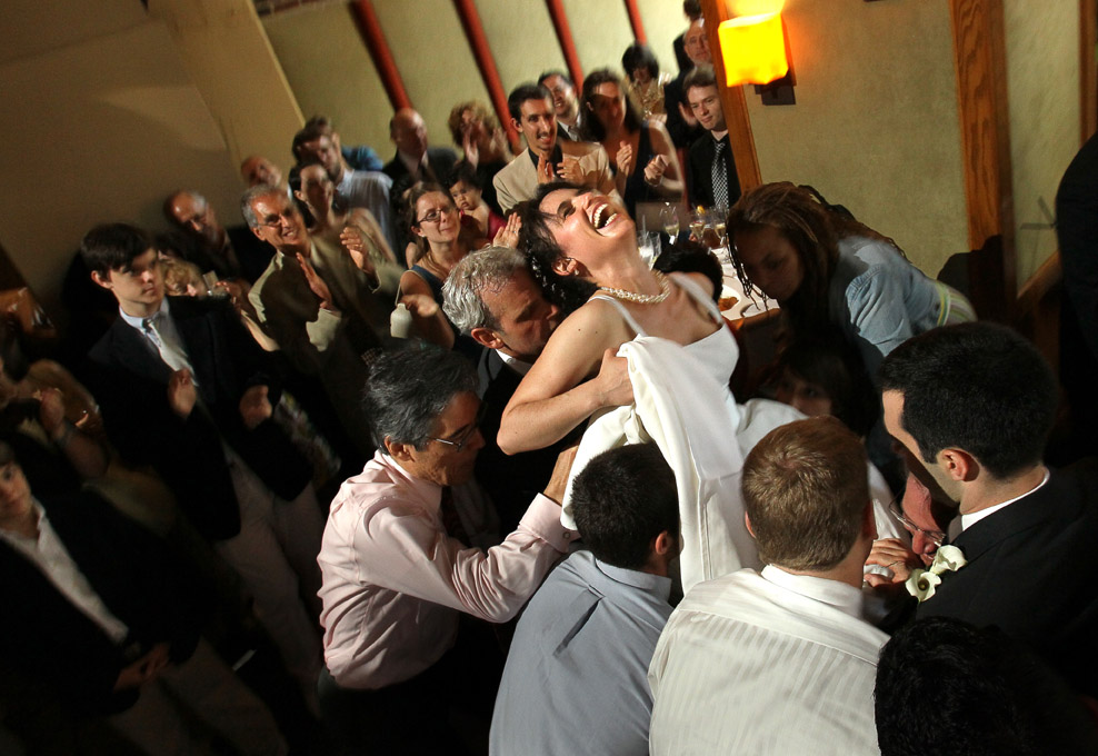 A wedding reception at <u>O'Connell's</u></a> in Jersey City, New Jersey. The day began with wedding photography at the Jersey City Hyatt and along the JerseyCity waterfront with the New York skyline in the background.