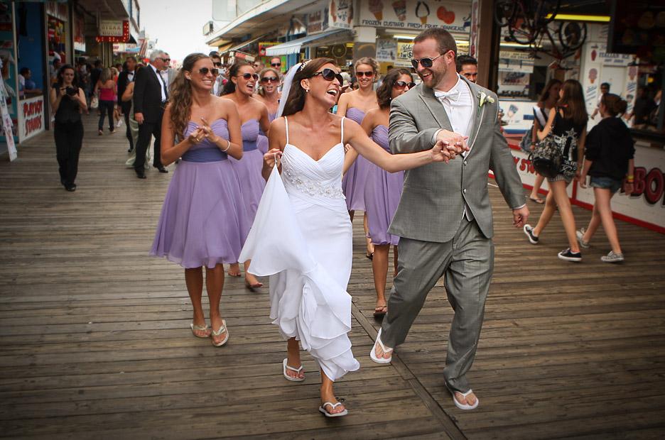 wedding photo gallery New Jersey beach wedding photos