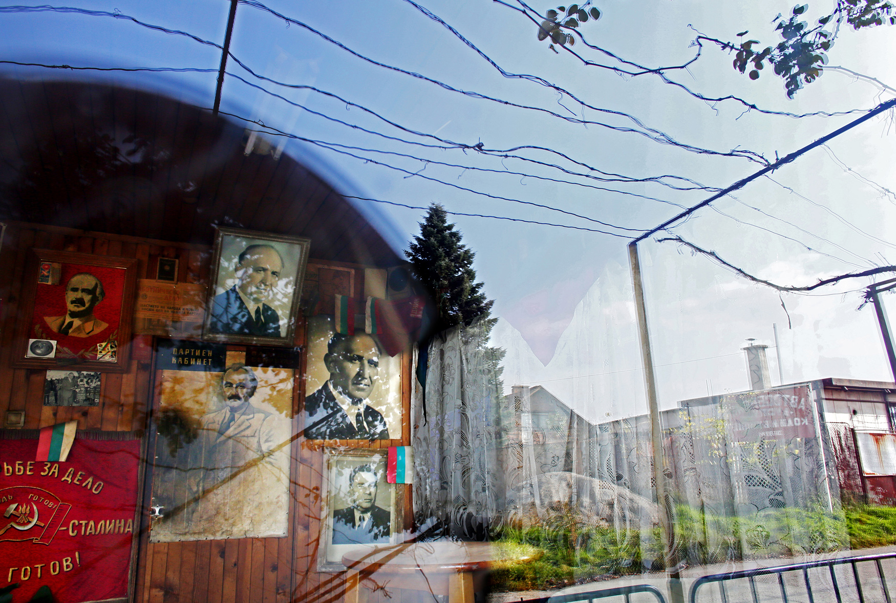 Communist nostalgia is still very much alive in Bulgaria. Tato, a bar in Sofia (currently closed due to the death of its owner,) is decorated with portraits of Bulgarian Communist dictator Todor Zhivkov (upper center,) in Bulgaria's capital Sofia, on November 6th, 2014. His nickname and bar's namesake {quote}Tato{quote} is a play on the word {quote}dad{quote} in Bulgarian. Zhivkov was the head of state of the People's Republic of Bulgaria from March 4, 1954 until the day after the fall of the Berlin Wall, November 10, 1989, when he resigned under political pressure over the country's worsening economy and public unrest.