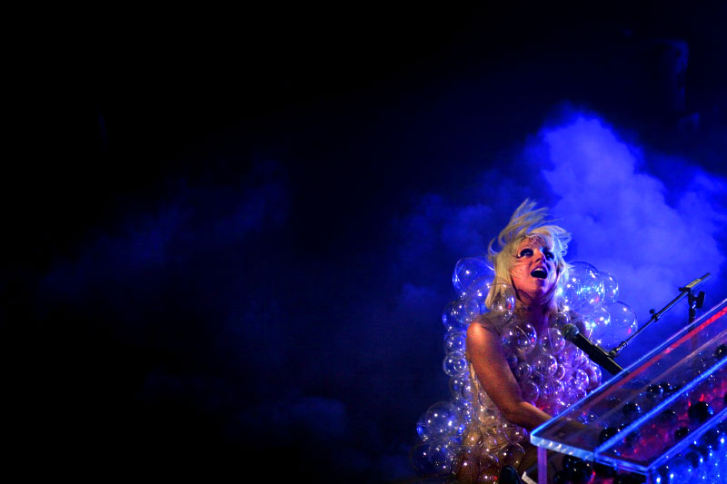 The pop musician Lady Gaga performs at Terminal 5 on Saturday, May 02, 2009 in Manhattan, New York.