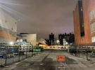 A lone shopping cart endures in Home Depot's parking lot in Brooklyn, NY in March of 2020, as the pandemic shuts down life in New York City as its early epicenter.