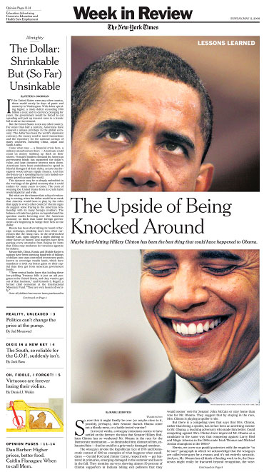 The New York Times - Week in Review section front page(both photos on page)