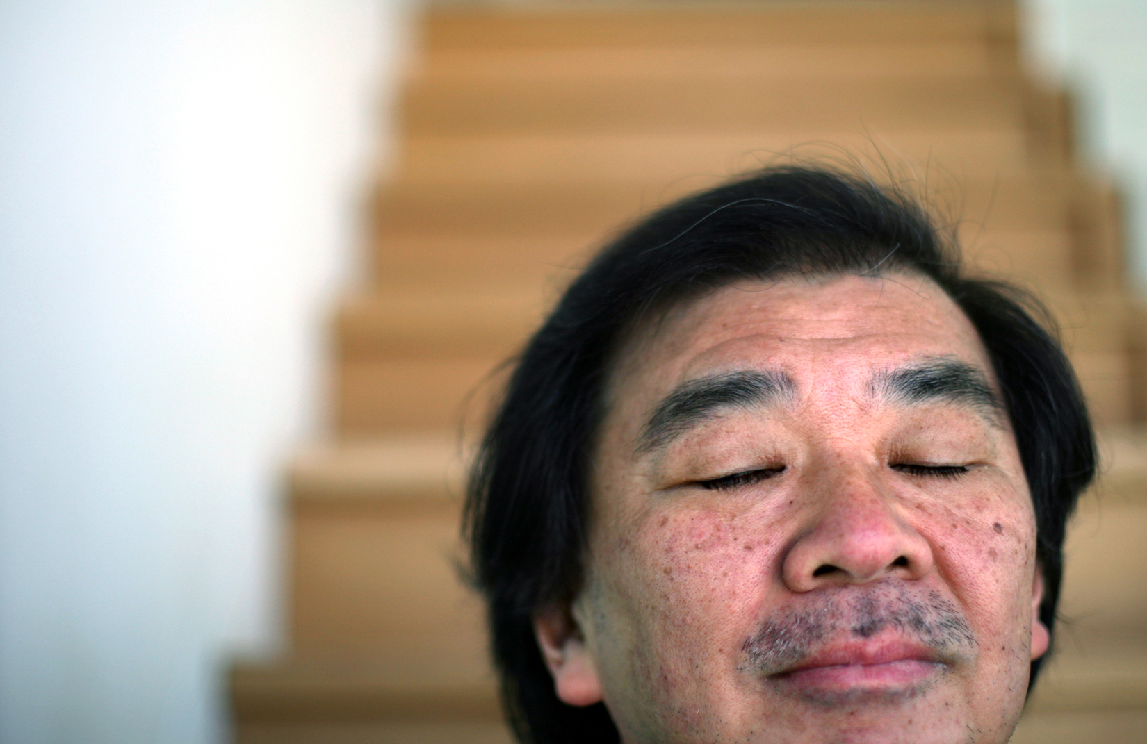 Pritzker Architecture Prize recipient Shigeru Ban poses for a portrait in Manhattan, NY.(For The New York Times)