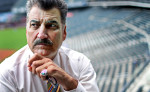 Former MLB player and current baseball analyst Keith Hernandez poses for a portrait at Citi Field stadium in Queens, NY.