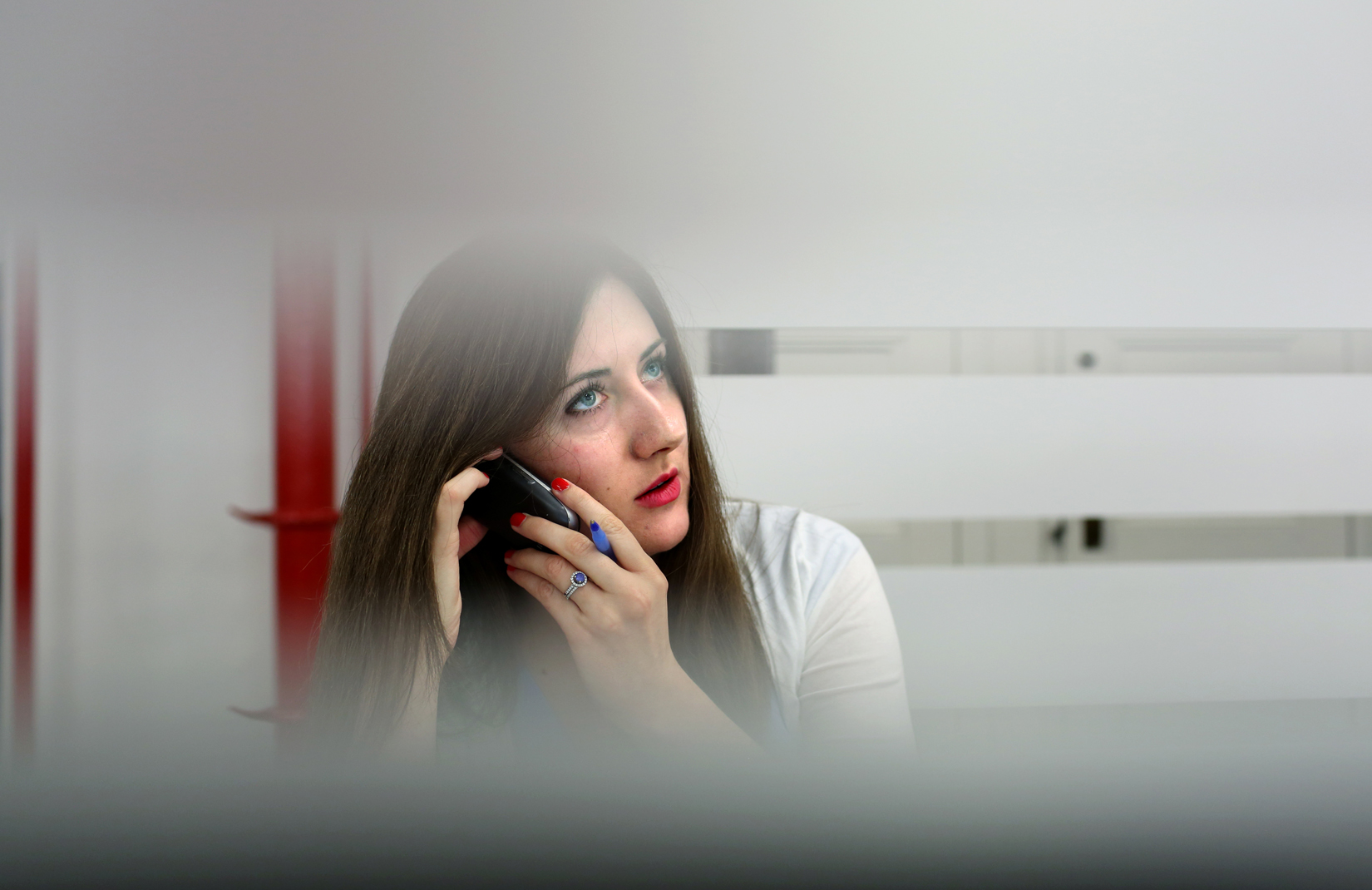 Genetic counselor Jenna Miller takes a phone call at the genetic testing lab Recombine in Manhattan, NY.(For The New York Times)
