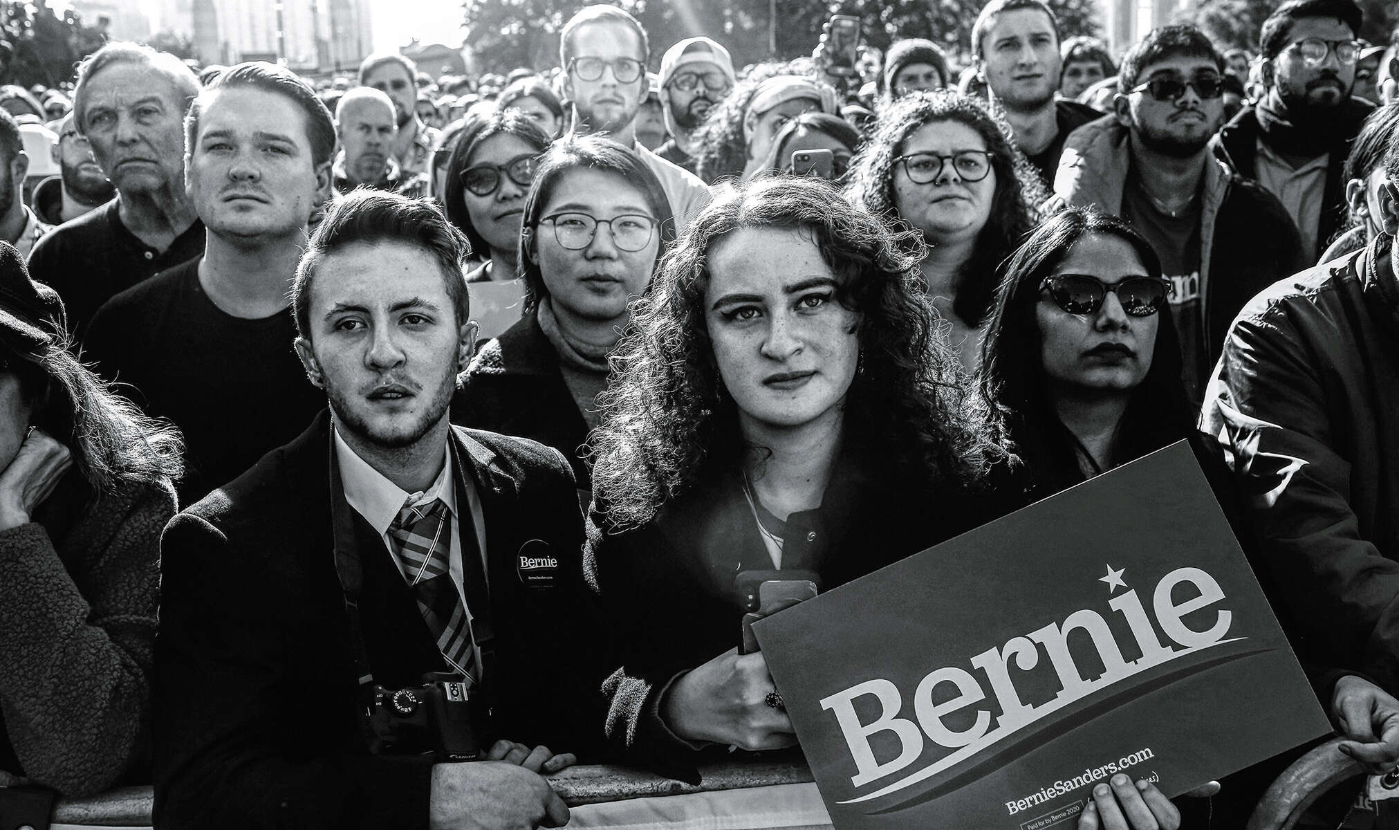 An audience at a {quote}Bernie's Back{quote} rally listens to U.S. Rep. Alexandria Ocasio-Cortez (D-NY) introduce Democratic U.S. presidential candidate and U.S. Senator Bernie Sanders (I-VT) during a {quote}Bernie's Back{quote} rally at Queensbridge Park in Queens, NY, on October 19, 2019. The rally, at which Representative Alexandria Ocasio-Cortez (D-NY) endorsed Sanders, drew over 20,000 participants and took place shortly after Sanders was hospitalized for a heart attack at the start of the month. (For Reuters)