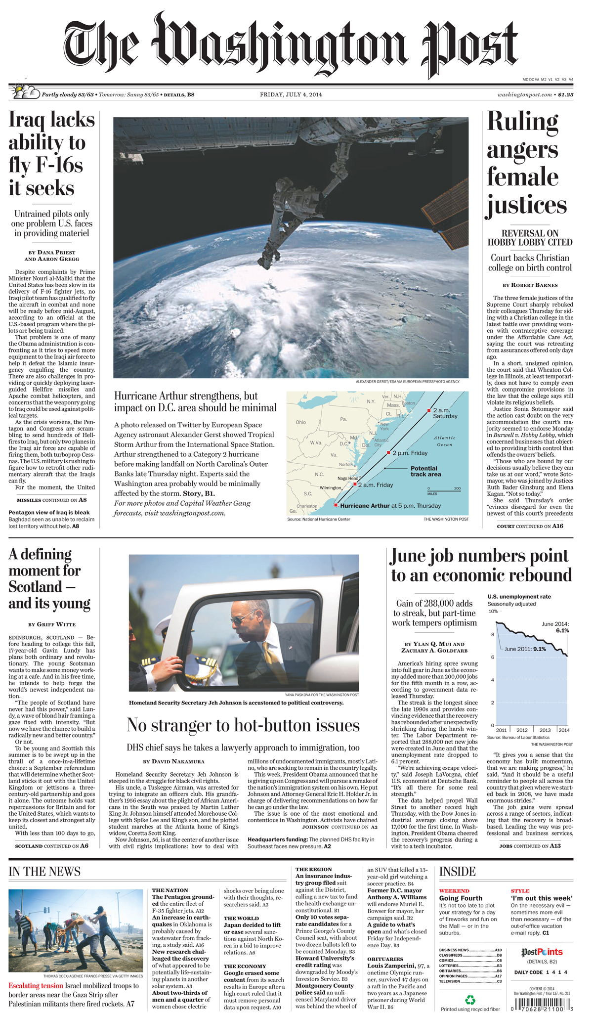 The Washington Post front page(second photo from the top)