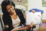 Michelle Obama, the wife of US Democratic presidential candidate Illinois Senator Barack Obama, campaigning throughout suburban Philadelphia Thursday afternoon to raise support for her husband prior to the Pennsylvania primary. One of her stops was at the Children's Ark at St. George's Church in Ardmore where she read to children before holding a roundtable with mothers. 