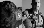 K-9 Search and Rescue team Petra and Rick.