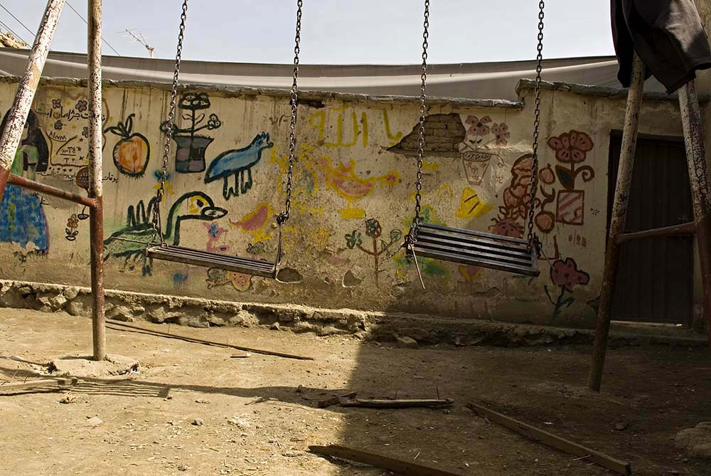 The playground at the Khair Khana Center in Kabul.
