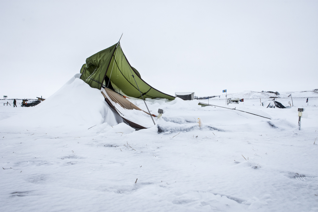 These ghost camps, abandoned, served as a vivid reminder of the gravity, harshness and danger of a North Dakota winter. A winter that those who had chosen to stay in camp were now staring down.